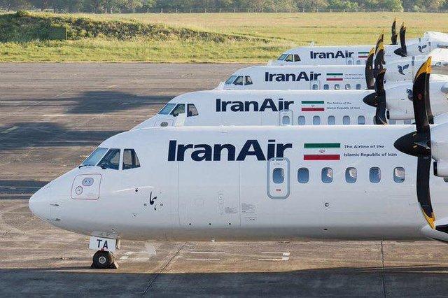 تصویر از ۴ هواپیمای ATR ایران به زمین نشستند