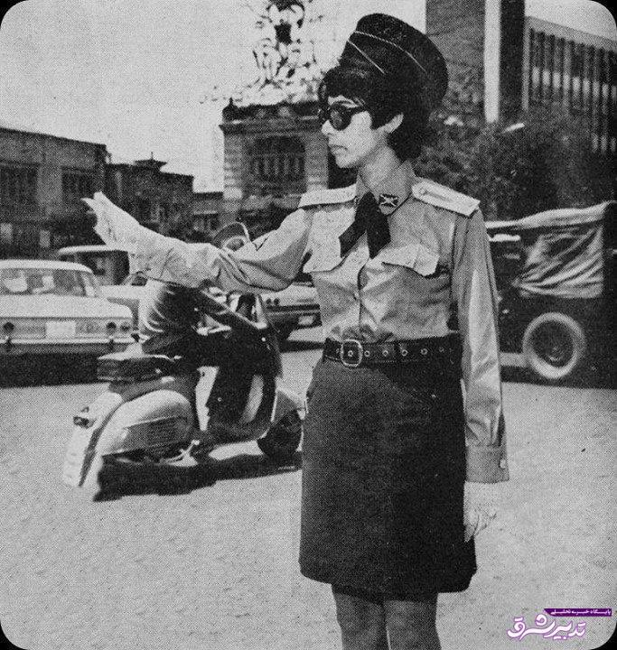 تصویر از عکس   پلیس زن تهران در سال ۱۳۴۹
