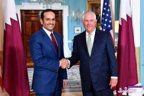 تصویر از وزیر خارجه آمریکا: اجرای برخی خواسته های اعراب از سوی قطر خیلی سخت است / وزیر خارجه قطر: دیدار با تیلرسون مثبت بود