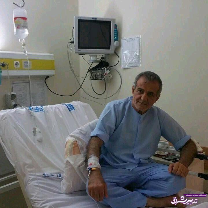 تصویر از عکس| نایب رئیس مجلس روی تخت بیمارستان