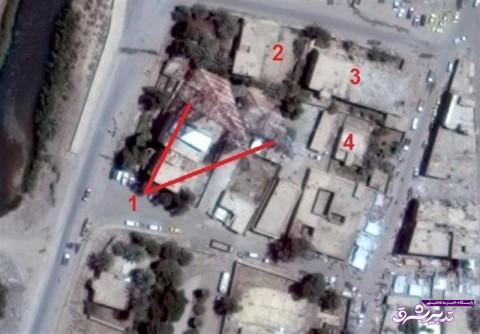 تصویر از مستندات اصابت دقیق موشکهای سپاه به مواضع داعش + تصاویر و نقشه