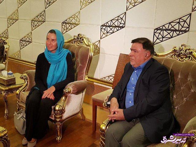 تصویر از مذاکرات «برجامی» فدریکا موگرینی با روحانی و ظریف در تهران