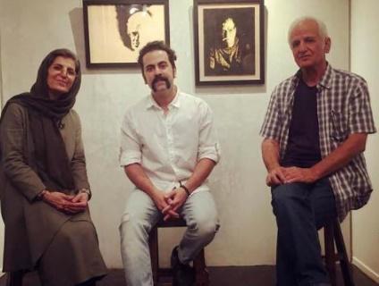 تصویر از آوازخوانی خواننده پالت در نمایشگاه پدرش/ نمایش مجموعه آثار اکبر نعمتی در گالری ایوان