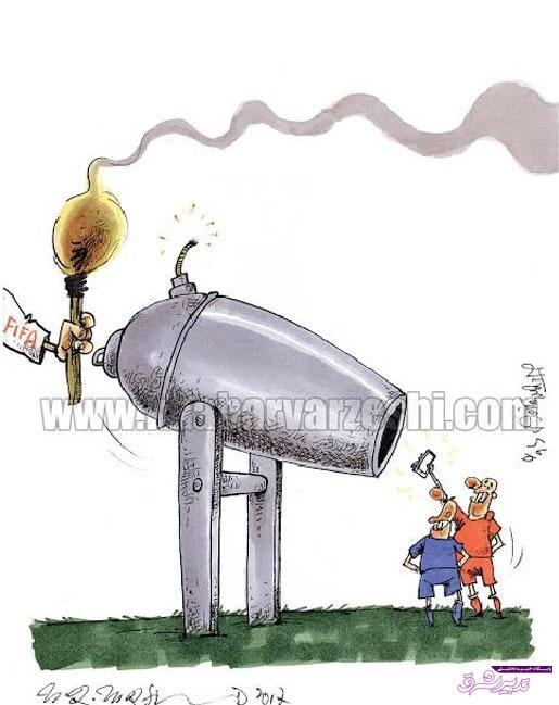 تصویر از سلفی عجیب استقلال و پرسپولیس با حکم فیفا!