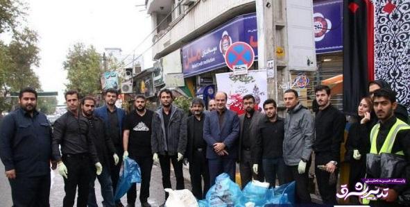 تصویر از توسط جمعی از دوستداران محیط زیست و فرماندار و شهردار آستانه اشرفیه؛ پاکسازی خیابانهای آستانه اشرفیه از زباله/ گزارش تصویری
