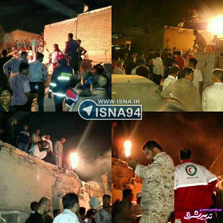 تصویر از انفجار گاز در کوی رمضان اهواز/تخریب چند خانه/ ۲ کشته و ۵ مصدوم/ عکس