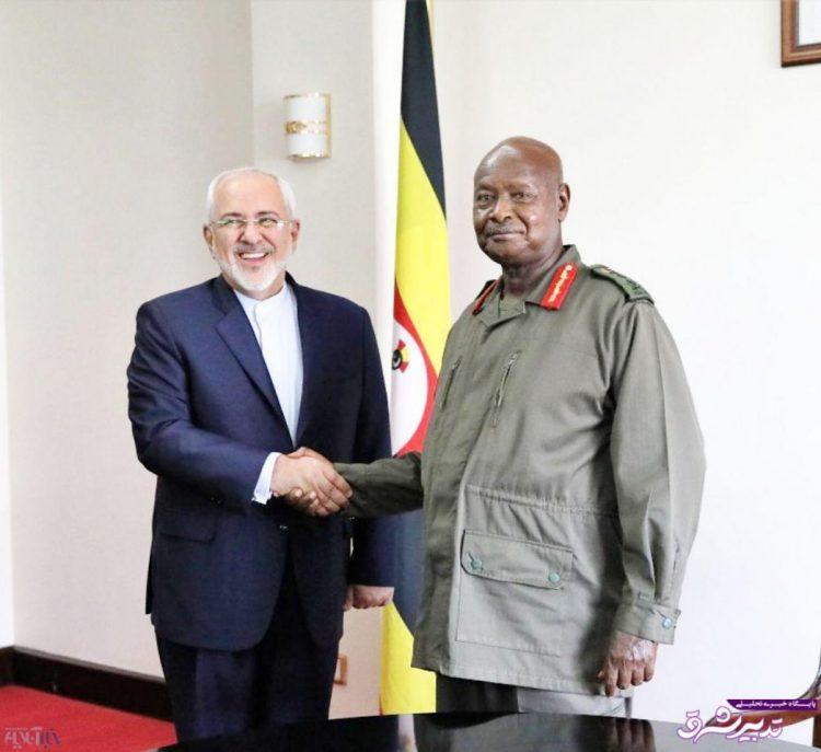 تصویر از دیدار ظریف با رئیسجمهور اوگاندا/ عکس