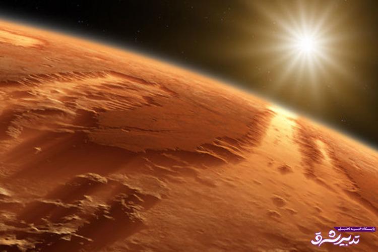 آب جاری روی سطح مریخ