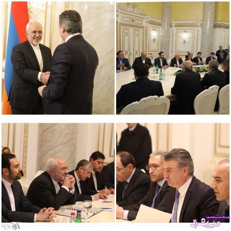 تصویر از ظریف با نخست وزیر ارمنستان دیدار کرد/عکس