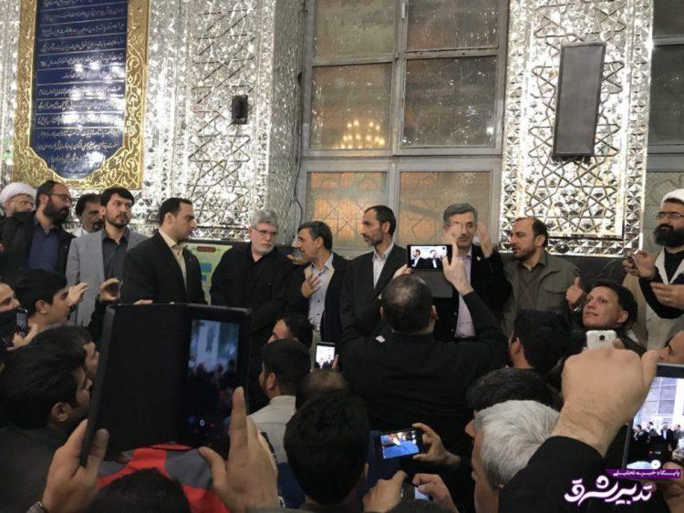 تصویر از عکس| دیدار مجدد احمدینژاد با بقایی در بستنشینی/دولت بهار مدعی برخورد لباس شخصیها با آنان شد
