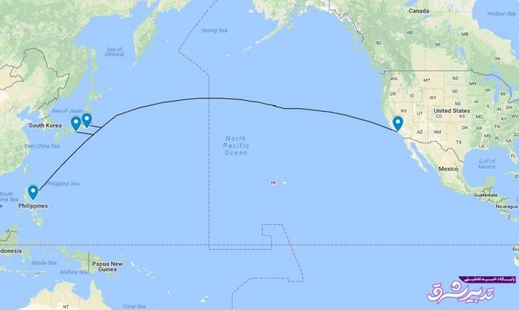 تصویر از کابل ۱۴ هزارکیلومتری زیردریا با ۶۰ ترابیت بر ثانیه میان آمریکا، ژاپن و فیلیپین