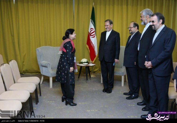 تصویر از تصاویر | دیدار جهانگیری با شمشاد اختر معاون دبیرکل سازمان ملل