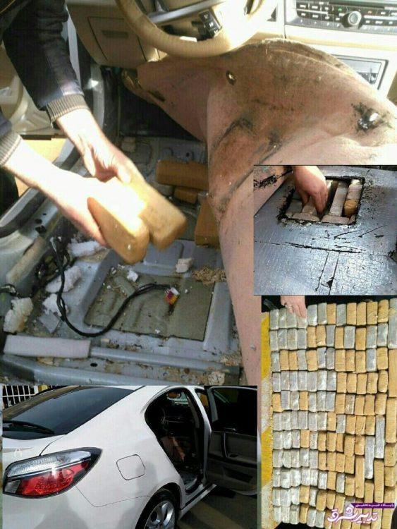 تصویر از عکس | جاسازی ماهرانه ۷۴ کیلو هروئین در ام.جی