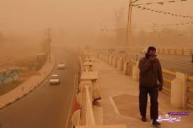 تصویر از هوای کرمانشاه در وضعیت هشدار قرار گرفت/تعطیلی برخی مدارس