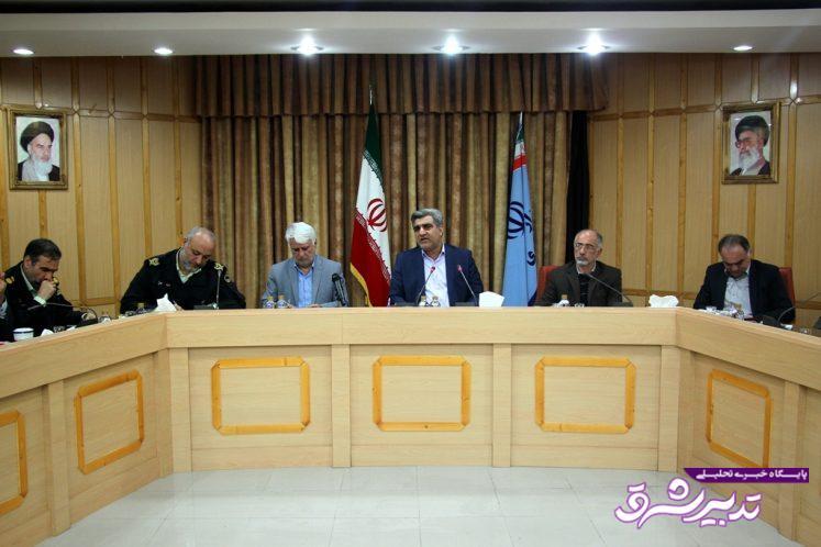 ستاندار گیلان در نشست مشترک با فرمانداران و فرماندهان انتظامی استان