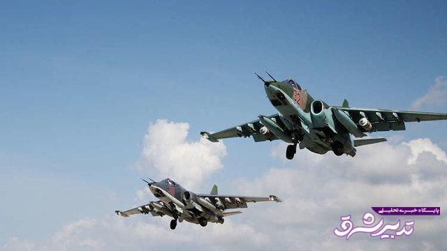 جنگندههای روس بر فراز ناوشکن آمریکایی