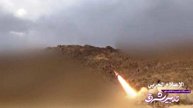 تصویر از جنوب غرب عربستان هدف موشک ارتش یمن قرار گرفت