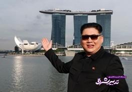 تصویر از تصاویر   بدل کیم جونگ اون در خیابانهای سنگاپور