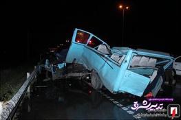 تصویر از تصاویر   ۲ کشته و ۹ مجروح در تصادف وحشتناک مینیبوس با کامیون، تیبا و پراید