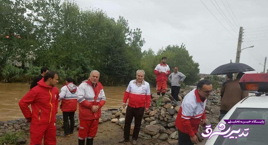 تصویر از بازدید استاندار از مناطق سیل گرفته شرق گیلان / خسارت بیش از ۱۰ میلیارد تومانی سیل