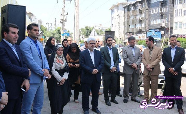 تصویر از افتتاح پروژه هدایت آبهای سطحی در شهرستان رشت