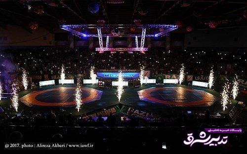 تصویر از لیگ باشگاههای کشتی جهان در اردبیل برگزار میشود