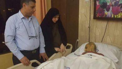 تصویر از بستری شدن پیشکسوت فوتبال گیلان و پدر سخنگوی شورای شهر در بیمارستان قائم