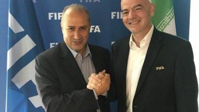 تصویر از تمجید رئیس فیفا از تیم ملی فوتبال ایران