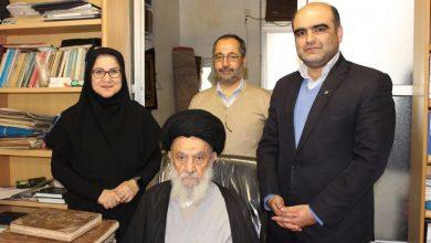 تصویر از دیدار مدیر سازمان اسناد و کتابخانه ملی استان گیلان با آیت الله رودباری + تصاویر