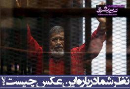 تصویر از نظر شما راجع به این عکس چیست؟/جان دادن اولین رئیس جمهور غیرنظامی مصر در قفس