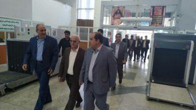 تصویر از بازدید معاون هماهنگی امور عمرانی استانداری گیلان از پایانه مرزی مهران