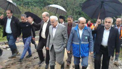 تصویر از بازدید معاون هماهنگی امور عمرانی استانداری گیلان از مناطق سیل زده شفت