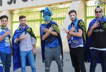 تصویر از حضور هواداران استقلال مقابل مجلس شورای اسلامی