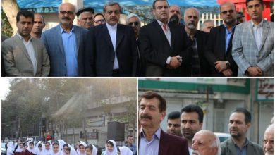 تصویر از با حضور فرماندار وشهردار لاهیجان;دومین اِلمان کتاب شهر لاهیجان افتتاح شد