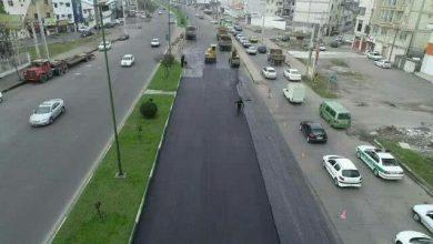 تصویر از گزارش تصویری عملیات آسفالت کمربندی شهید قلی پور به سمت میدان جهاد