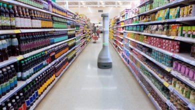 تصویر از ربات ناظر فروشگاه برای کنترل قفسههای خالی