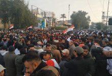 تصویر از توصیه های جریان صدر به تظاهرات کنندگان: فقط پرچم عراق را به اهتزاز درآورید / در صورت امکان، کفن بپوشید / سلاح حمل نکنید / همراه خود دوربین نیاورید / شعارها با مضمون اخراج نیروهای آمریکایی یکی باشد