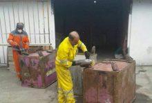 تصویر از سازمان مدیریت پسماند های شهرداری رشت نسبت به ترمیم مخازن زباله شهری اقدام کرد
