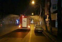 تصویر از چهارده تیم از آتش نشانی کار ضدعفونی شهر را انجام می دهند