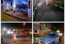 تصویر از شهرداری رشت همچنان به عملیات محلول پاشی مواد ضدعفونی ادامه می دهد