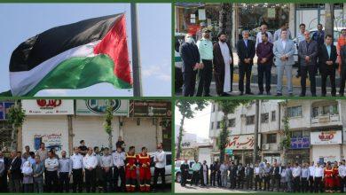 تصویر از همزمان با روز قدس پرچم کشور فلسطین در لاهیجان به اهتزاز درآمد