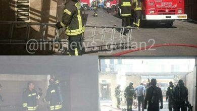 تصویر از آتش سوزی در ساختمانی 5 طبقه در رشت 17 نفر امروز در آتش سوزی یک انبار در ساختمانی تجاری 5 طبقه در رشت نجات یافتند.