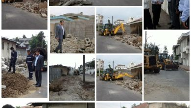 تصویر از مسعود کاظمی خبر داد: خیابان پرستار لاهیجان تعریض شد