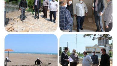 تصویر از بازدید شهردار و اعضای شورای شهر چاف و چمخاله از روند پروژههای عمرانی