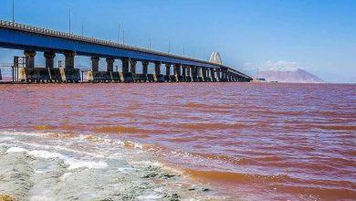 تصویر از حجم آب دریاچه ارومیه ۸ برابر شد