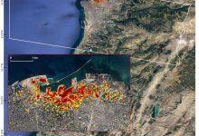 تصویر از برآورد خسارات انفجار بیروت توسط ناسا