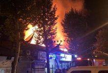تصویر از شهردار فومن خبر داد؛ آتش سوزی گسترده در بازار فومن مهار شد|میزان خسارت و علت آتش سوزی مشخص نیست