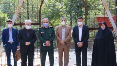 تصویر از بازدید شهردار رشت و ۳ عضو شورا از پروژه احداث یادمان شهدای گمنام پارک ملت