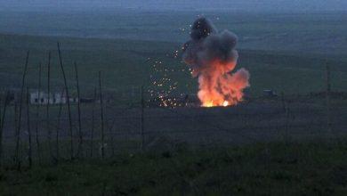 تصویر از اصابت ۱۰ راکت به روستاهای خداآفرین / یک واحد مسکونی تخریب شد