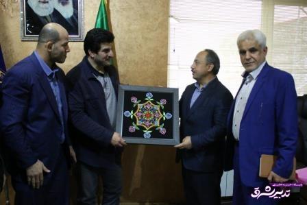 شهردار رشت در دیدار با رئیس فدراسیون کشتی
